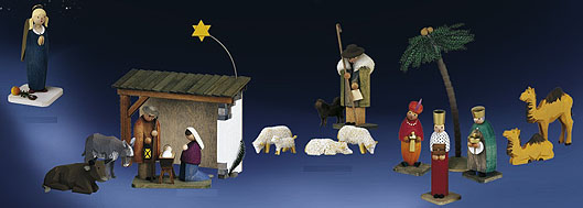 Nativity figures from Günter Reichel